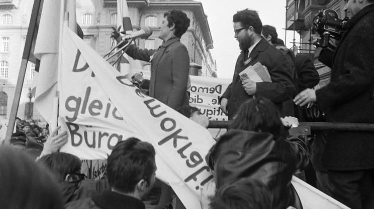 Emilie Lieberherr, leader del comitato d'azione della marcia su Berna