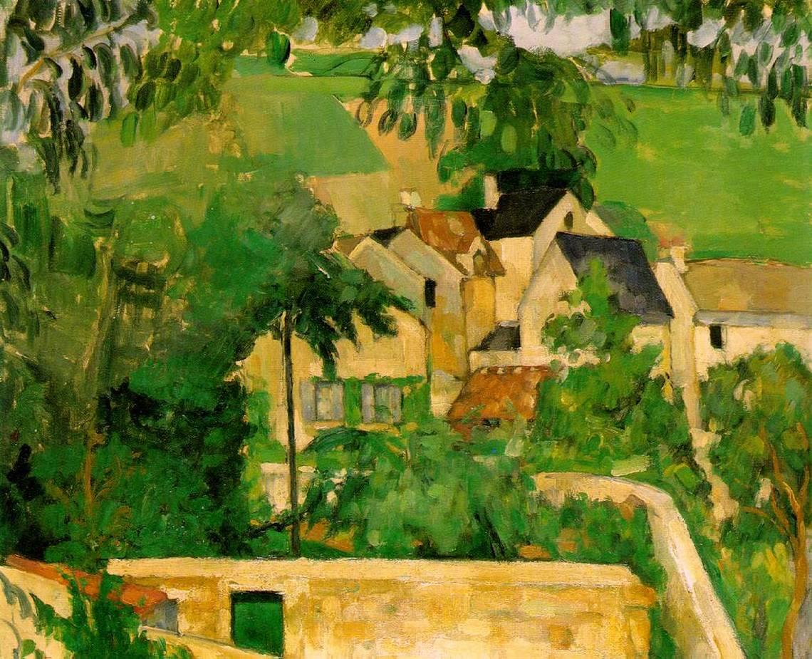 Etude: Paysage à Auvers, 1873