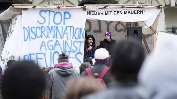Manifestazione Berna a sostegno dei rifugiati