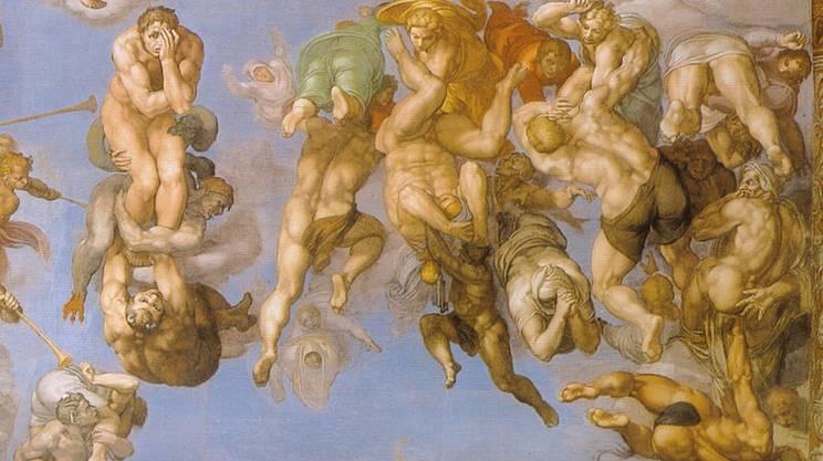 Michelangelo, Giudizio_universale (dettaglio)
