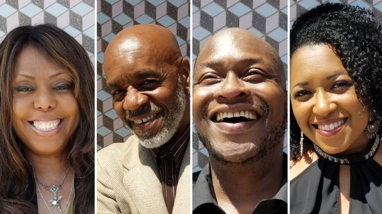 Voice of Chicago, da sinistra Yvonne Cage, Stevie Robinson, Mike Harvey , Simbryt Dortch