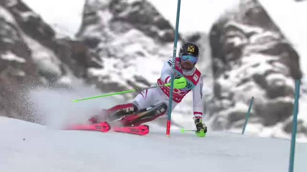Slalom di Wengen, la prima manche di Hirscher (14.01.2017)