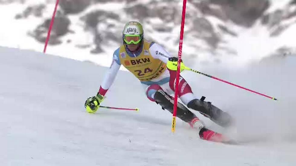 Slalom di Wengen, la prima manche di Zenhäusern (14.01.2018)