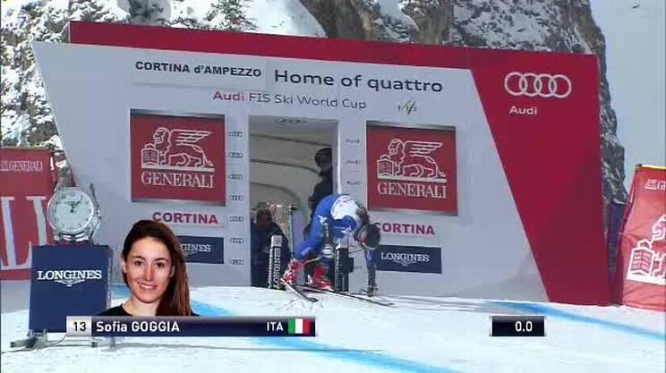 Cortina d'Ampezzo, il weekend da brivido di Sofia Goggia