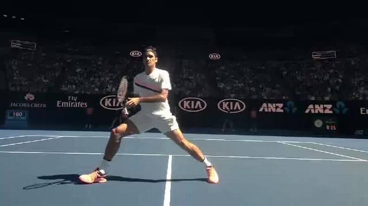 A rete dietro la schiena, il colpo magico di Roger