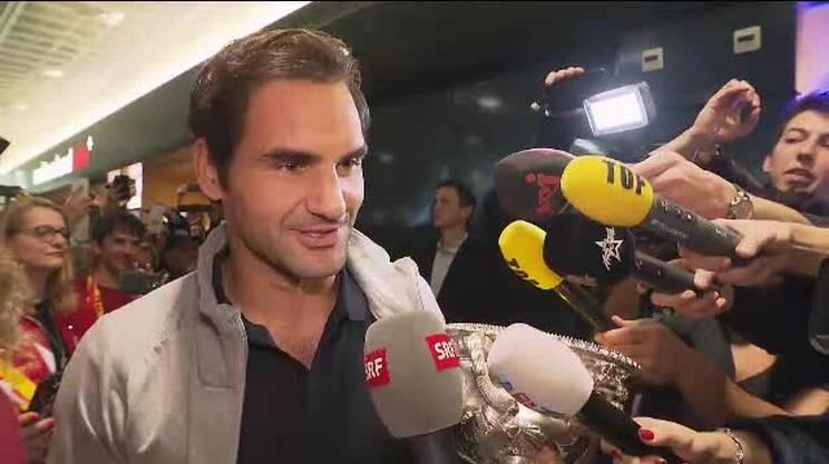 L'arrivo di Roger Federer a Kloten con il 20o Slam