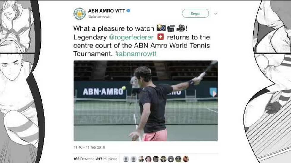 ATP 250 Rotterdam, il benvenuto del torneo a Roger Federer (Korea della sera 12.02.2018)