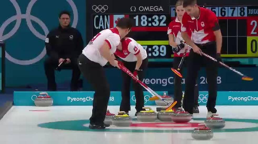 PyeongChang 2018, Rios risponde a Morris nella finale di doppio misto di curling (13.02.2018)