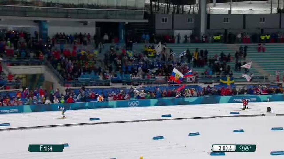 PyeongChang 2018, l'arrivo dello sprint femminile di fondo (13.02.2018)