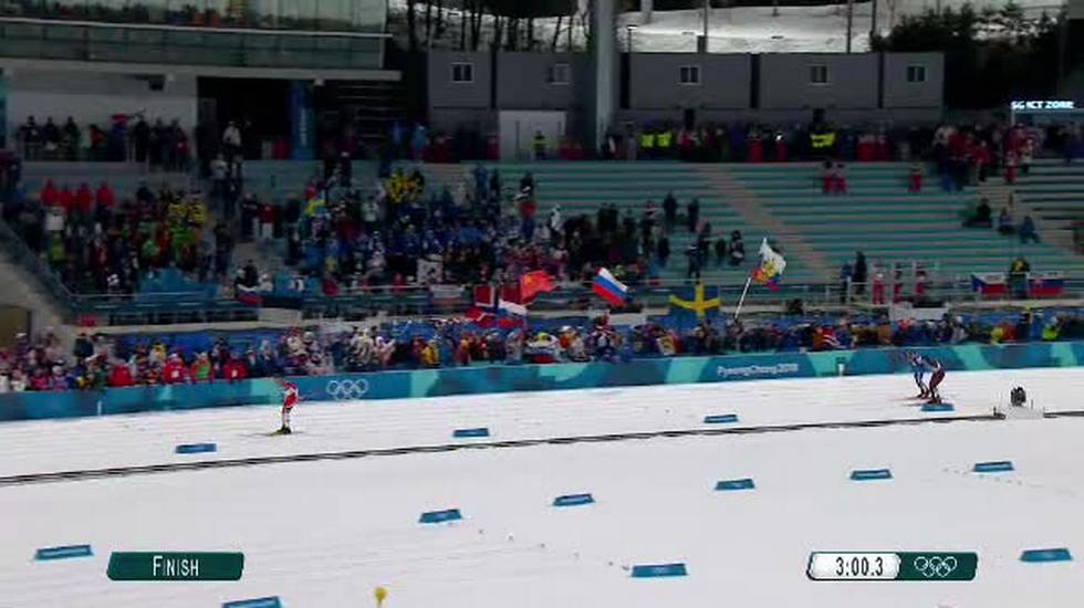 PyeongChang 2018, l'arrivo dello sprint maschile (13.02.2018)