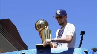 NBA, la festa per il titolo dei Golden State Warriors (13.06.2018)