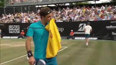 ATP Stoccarda, i due break di Federer nel secondo set (16.06.2018)