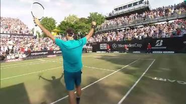 ATP Stoccarda, il match point di Federer contro Kyrgios (16.06.2018)