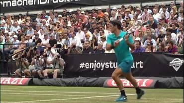 ATP Stoccarda, la pazzesca risposta di Federer valsa un break (17.06.2018)
