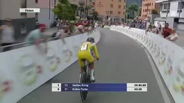 Tour de Suisse, l'arrivo di Richie Porte nell'ultima tappa (17.06.2018)