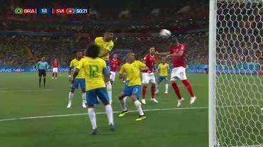 Mondiali, il gol dell'1-1 di Zuber in Brasile-Svizzera (17.06.2018)