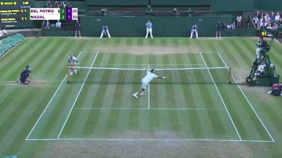 Wimbledon, il pazzo 3o gioco del 5o set tra Nadal e Del Potro (11.07.2018)