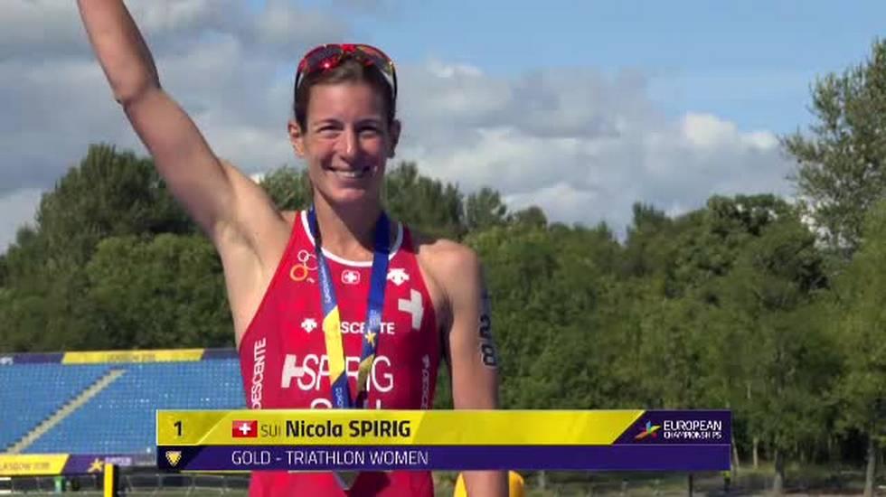 European Championships, la premiazione del triathlon D (09.08.2018)