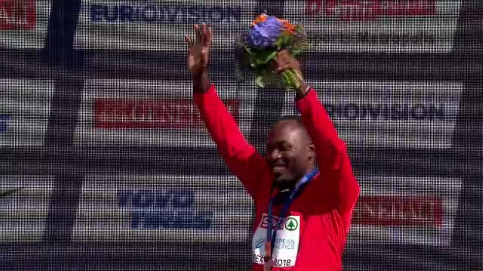 European Championships, la premiazione di Alex Wilson (10.08.2018)