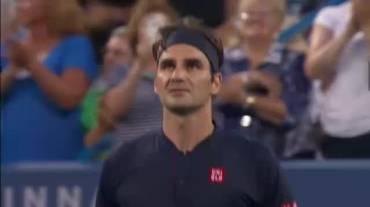 ATP Cincinnati, highlights di Federer - Gojowczyk (14.08.2018)
