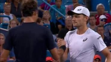 ATP Cincinnati, highlights di Federer - Goffin (18.08.2018)