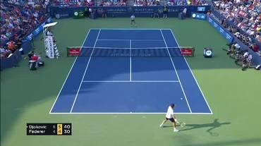 Masters 1000 Cincinnati, il match point di Federer - Djokovic (20.08.2018)
