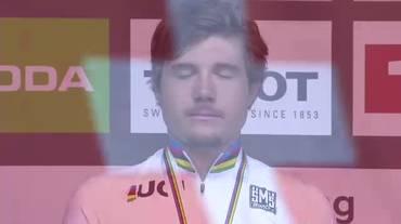 Mondiali, la premiazione di Marc Hirschi (28.09.2018)