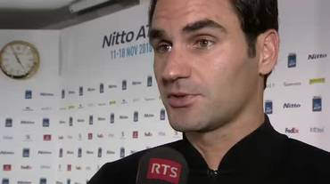 ATP Finals, l'intervista a Roger Federer (Sportsera 17.11.2018)