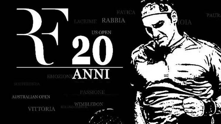 Roger Federer, 20 Slam in 20 minuti