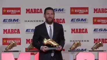 Scarpa d'Oro, la premiazione di Leo Messi (18.12.2018)