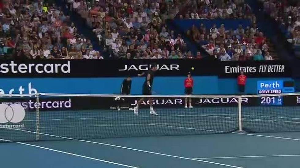 Hopman Cup, i punti conclusivi di Federer - Tsitsipas (03.01.2019)