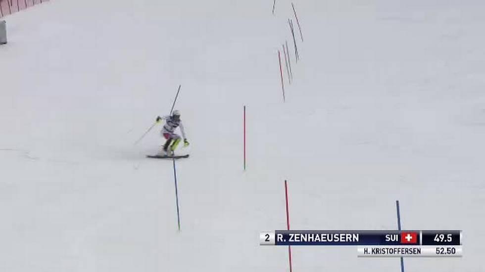 Slalom maschile di Zagabria, la prima manche di Ramon Zenhäusern (06.01.2019)