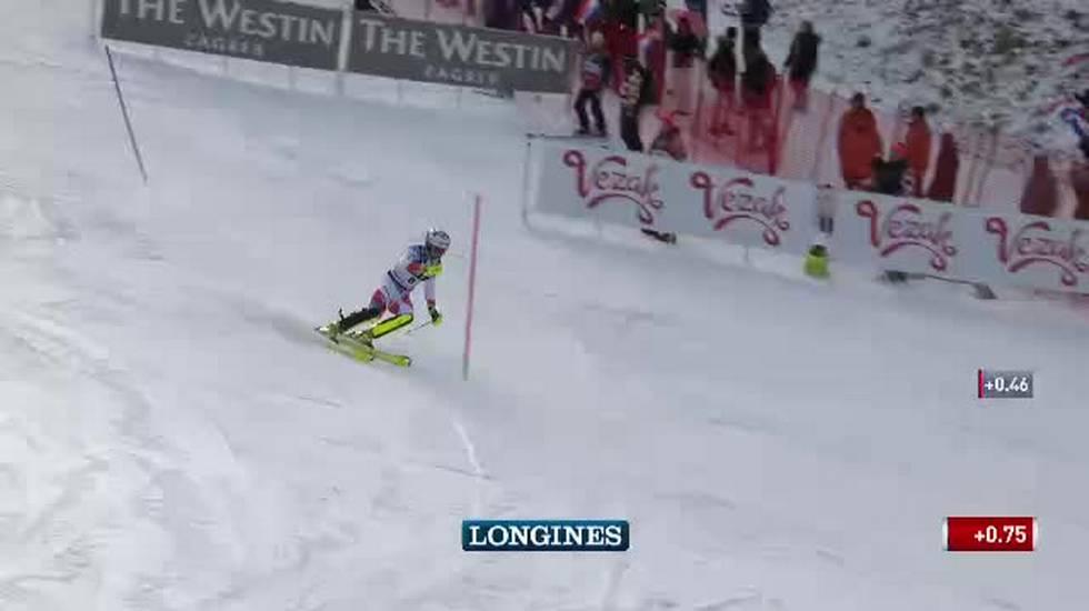 Slalom maschile di Zagabria, la prima manche di Daniel Yule (06.01.2019)