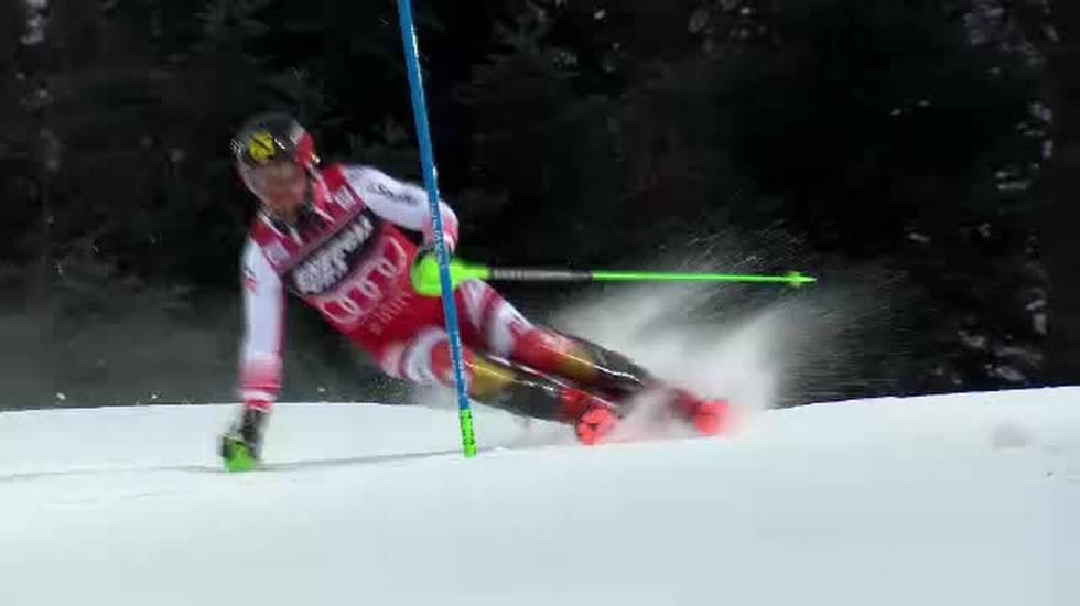 Slalom maschile di Zagabria, la seconda manche di Marcel Hirscher (06.01.2019)