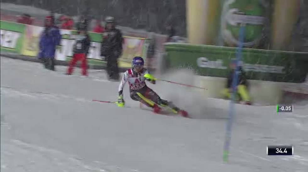Slalom femminile di Flachau, la prima manche di Mikaela Shiffrin (08.01.2019)
