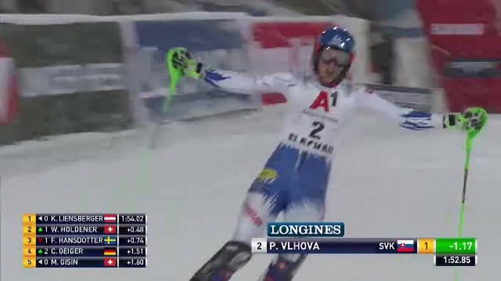Slalom femminile di Flachau, la seconda manche di Petra Vlhova (08.01.2019)