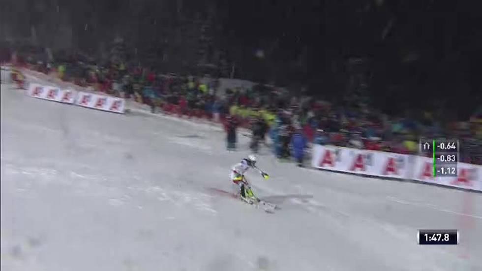 Slalom femminile di Flachau, la seconda manche di Wendy Holdener (08.01.2019)