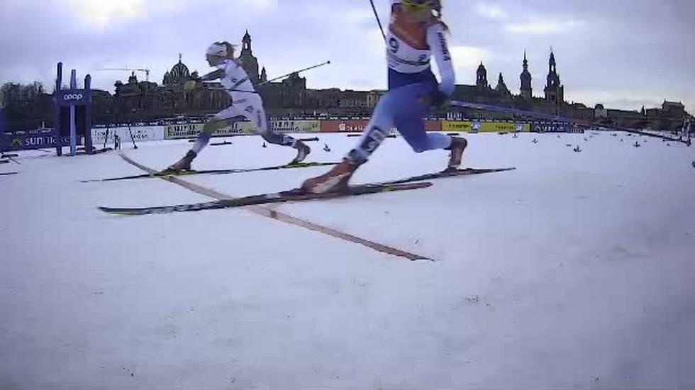 Sprint femminile di Dresda, l'arrivo della finale (12.01.2019)