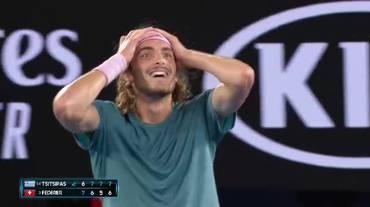 Australian Open, le fasi finali di Federer - Tsitsipas (20.01.2019)