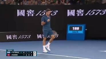 Australian Open, il vincente di Federer nel tie-break del 4o set (20.01.2019)