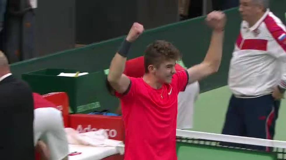 Coppa Davis, il match point di Kym/Laaksonen - Donskoy/Rublev (02.02.2019)