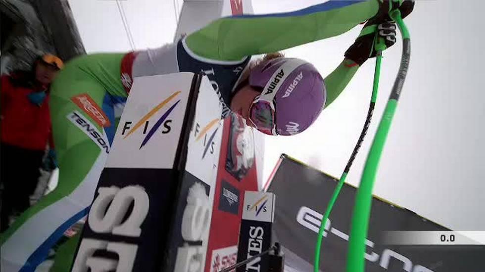 Mondiali di Are, la discesa di Ilka Stuhec valda per la combinata (08.02.2019)