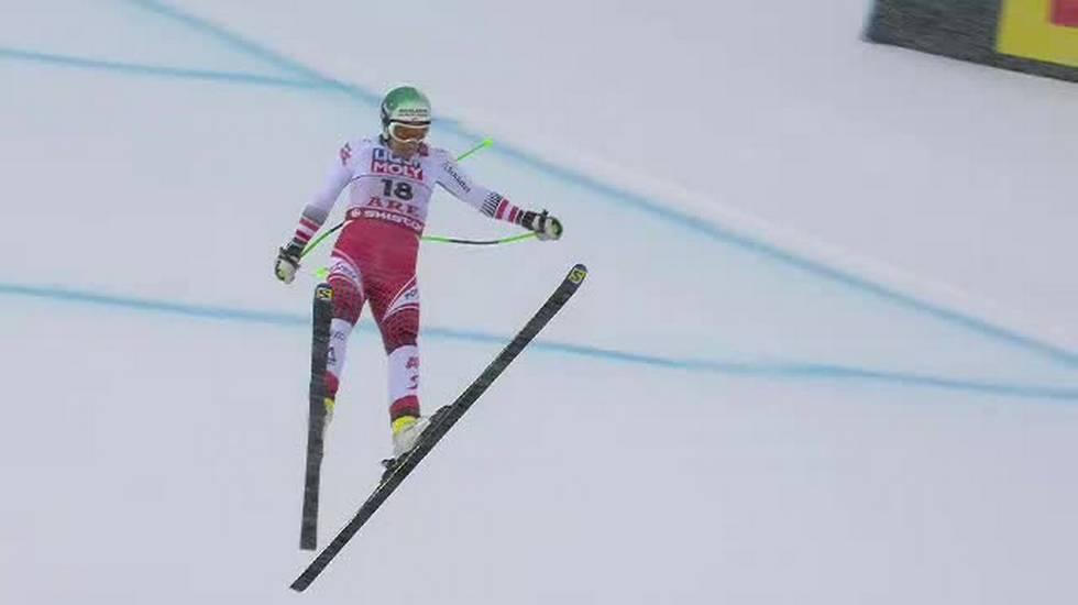 Mondiali di Are, la paurosa caduta di Otmar Striedinger (09.02.2019)