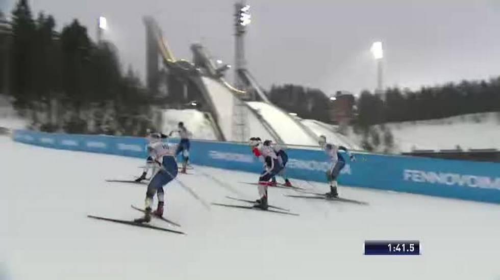Fondo, la semifinale dello sprint di Lahti con Fähndrich e Van der Graaff (09.02.2019)