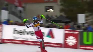 Mondiali di Are, la seconda manche di Marco Schwarz (17.02.2019)
