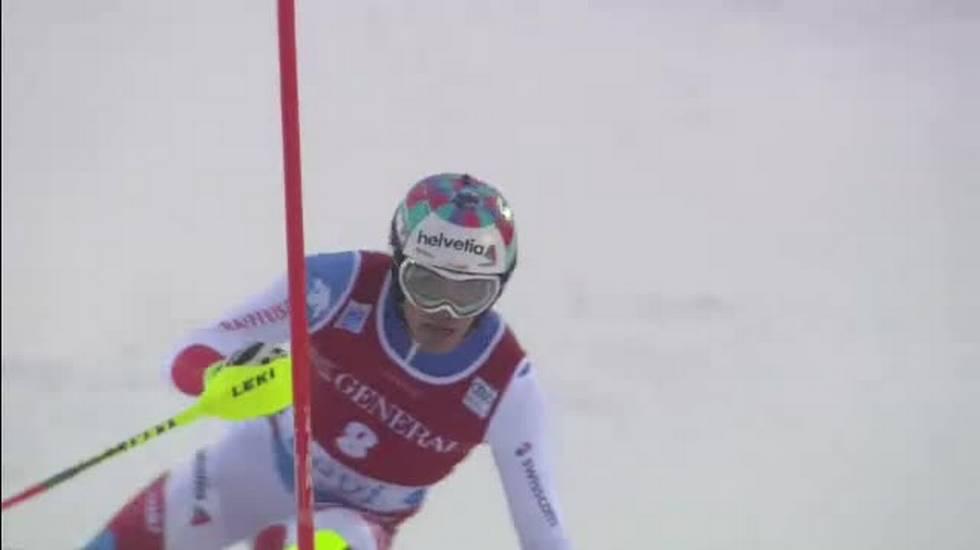 Slalom di Levi, la seconda manche di Daniel Yule (12.11.2017)