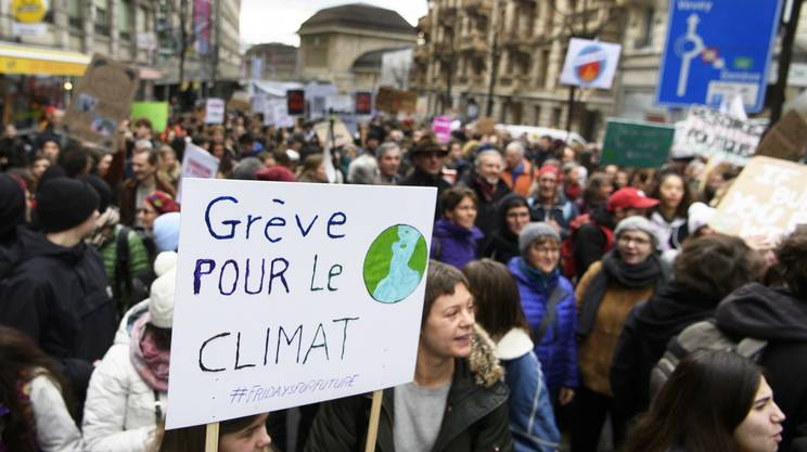 La mobilitazione per il clima a Losanna