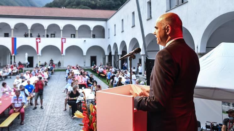 Berset ha tenuto il suo discorso nell'antico convento delle Agostiniane
