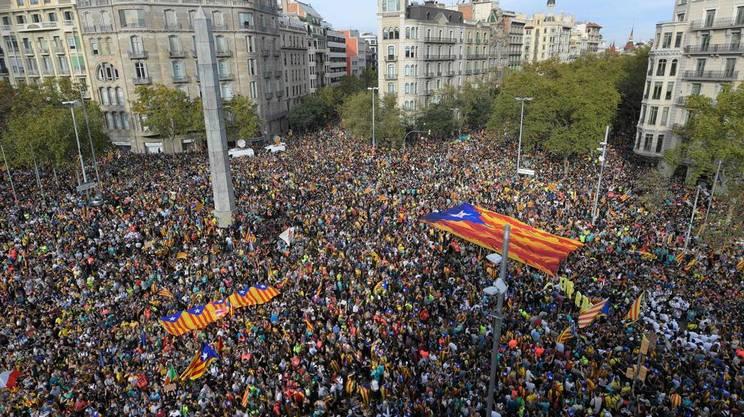 Barcellona invasa dai manifestanti