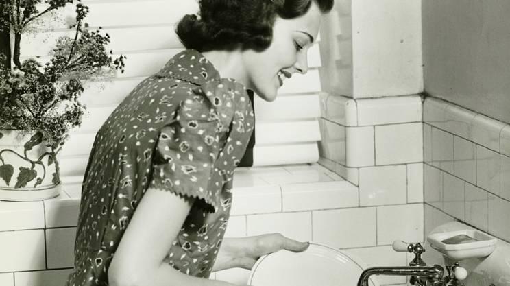 Casalinga, Anni '50, Cucina, Lavare, Anni '40, Lavare i piatti, Vita domestica